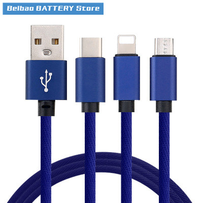 3 In 1 Fast Charging Cable Apple Android TYPE-C Three-in-one Fast Charge Data Cable Data Line