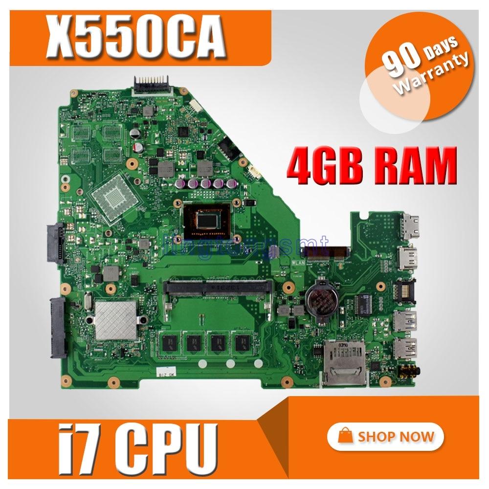X550CA scheda madre Del Computer Portatile per ASUS X550CA X550CC X550CL R510C Y581C X550C X550 Prova mainboard originale 4G di RAM I7-3537UX550CA scheda madre Del Computer Portatile per ASUS X550CA X550CC X550CL R510C Y581C X550C X550 Prova mainboard originale 4G di RAM I7-3537U