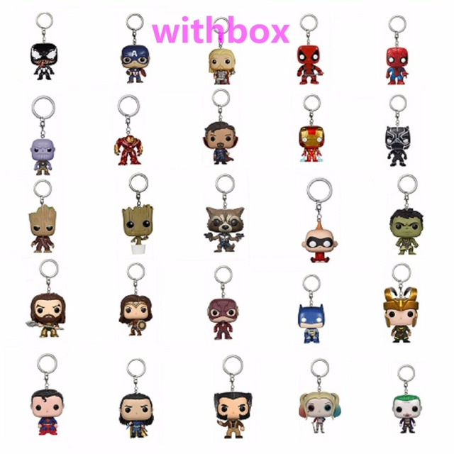 Bolso new Keychain Personagens 3 Venom Marvel The Avengers Super Hero Action Figure Collectible Modelo Brinquedos Cabeça Bobble Com Caixa