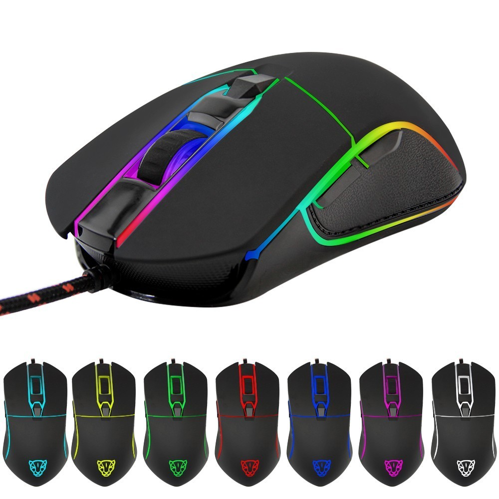 MotoSpeed V30 Wired Gaming Mouse Ergonomic PMW3320 Professional Game Chip 3500 DPI Adjustable LED RGB Backlight For PC Laptop купить в Москве 2019