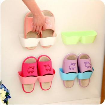 Estante de pared de plástico para zapatos, estantes organizadores para baño, soporte de pared, estante de placa de exhibición, estante de almacenamiento ahorrador de espacio, Etagere