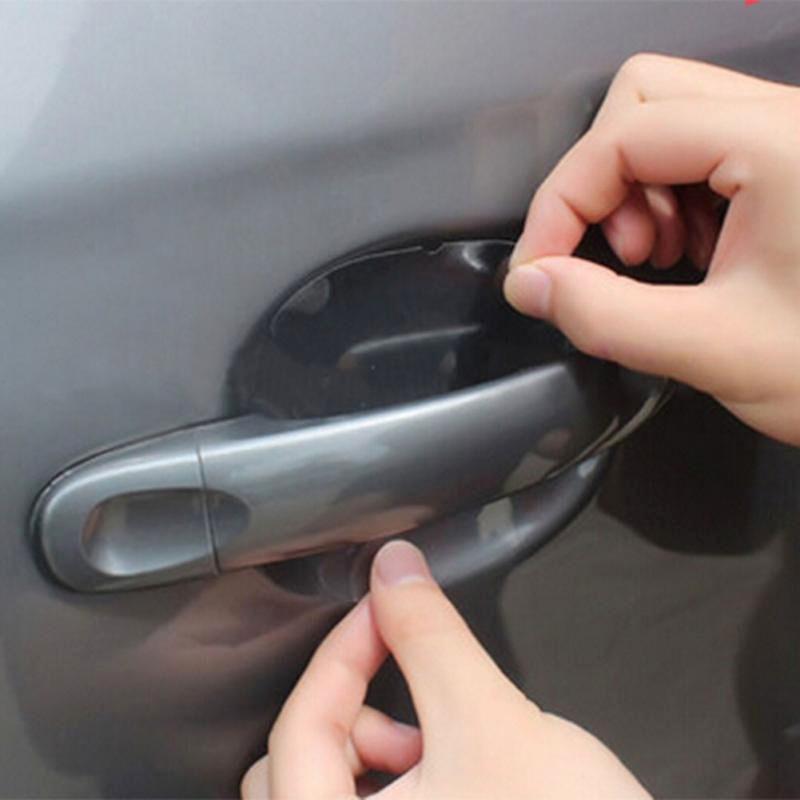 4Pcs/LOT Universal Car Handle Protection Film Sticker Door Sticker Exterior Transparent Automotive Auto Accessories Car Styling
