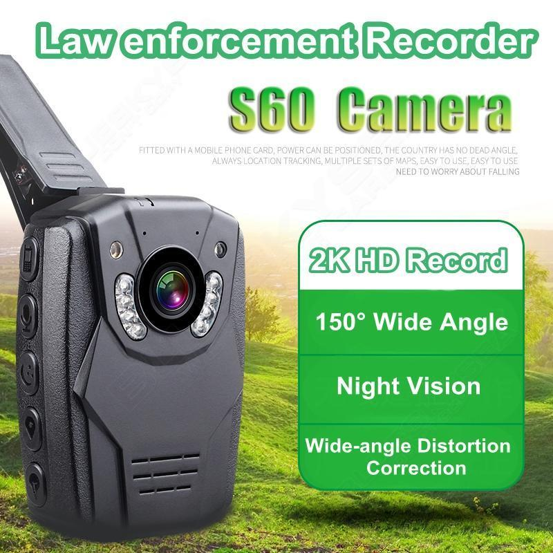 цена на Free shipping!2K HD 1296p Video S60 Body Personal Security WaterProof  Police Camera Night Vision 6-hour Record 16GB 2.0 Screen