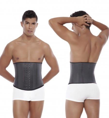 10pcs/lot Getting Shape Latex Waist Trainer Vest for Men Waist Cincher Firm Tummy Slimming Male Waist Train Corset Waist Shaper