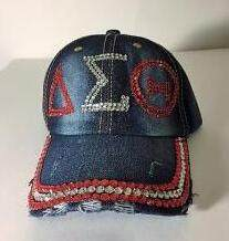 d22cd931 10pcs crystal Point Sorority DST hat letters style Glass denim capst custom  baseball cap Hat rhinestone