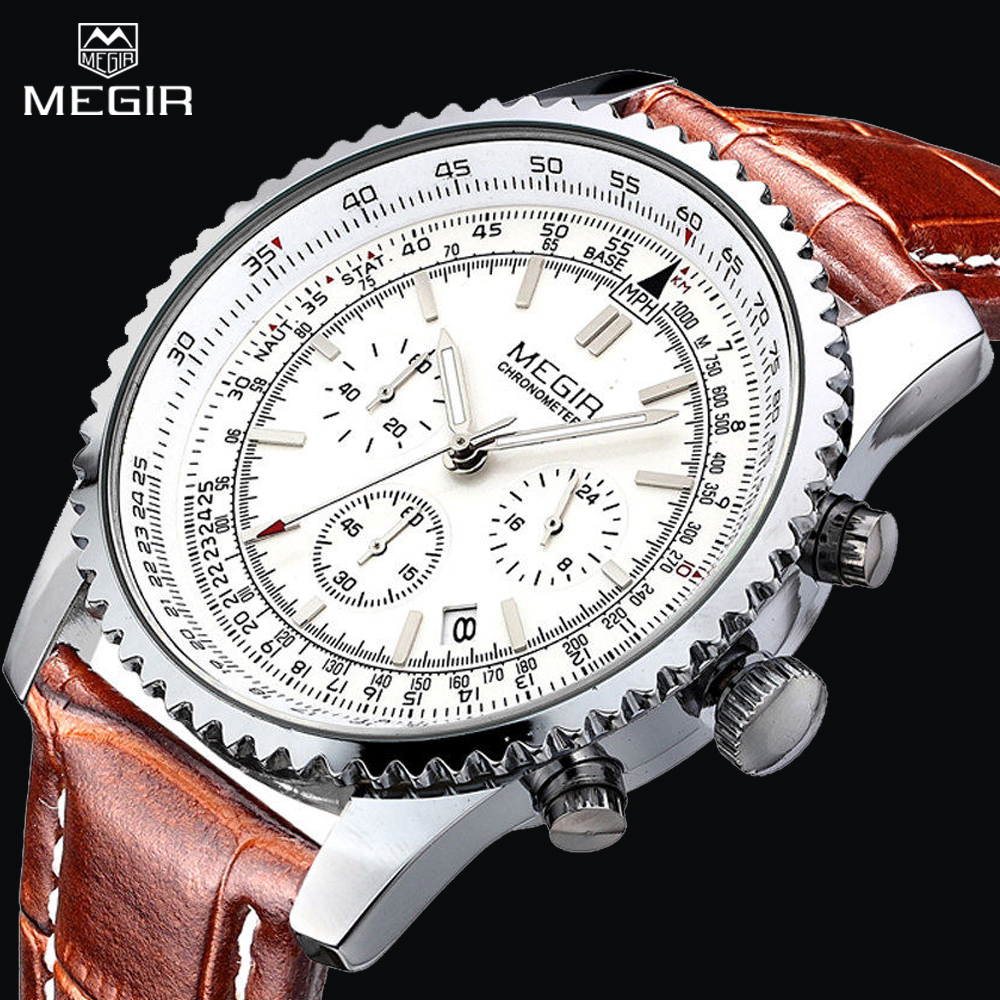 MEGIR Mens Watches Top Luxury Luxury Waterproof 24 orë Auto Data - Ora për meshkuj