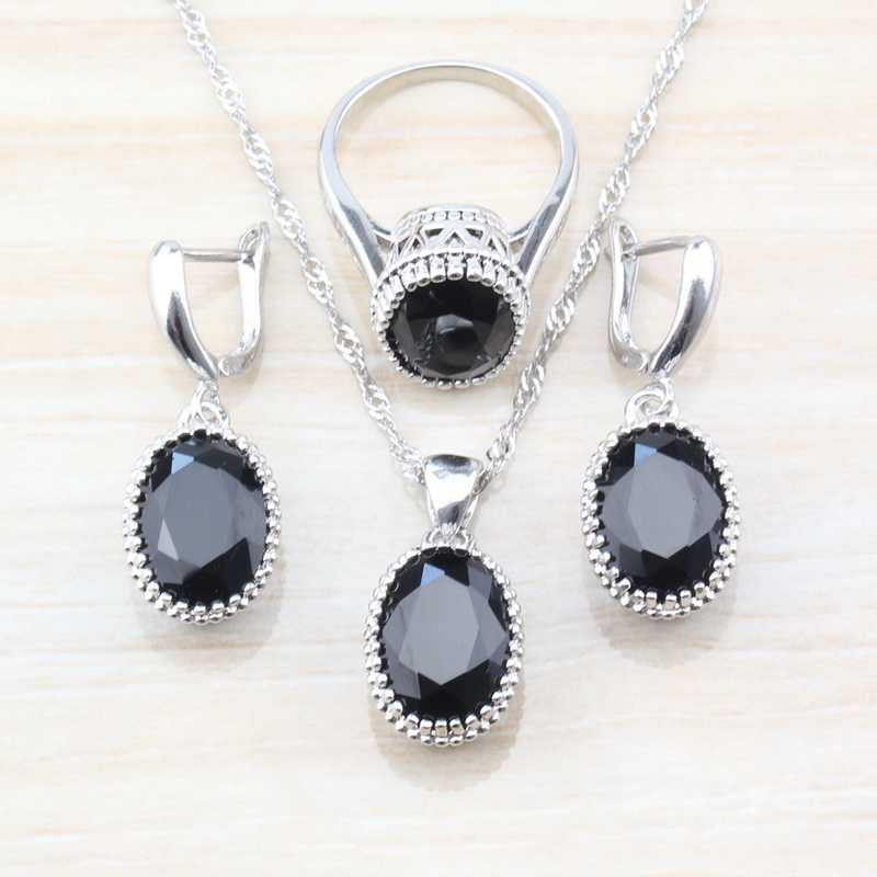 Jewelry-Sets Health-Accessories Earrings/necklace Pendant/ring 925-Sterling-Silver Women