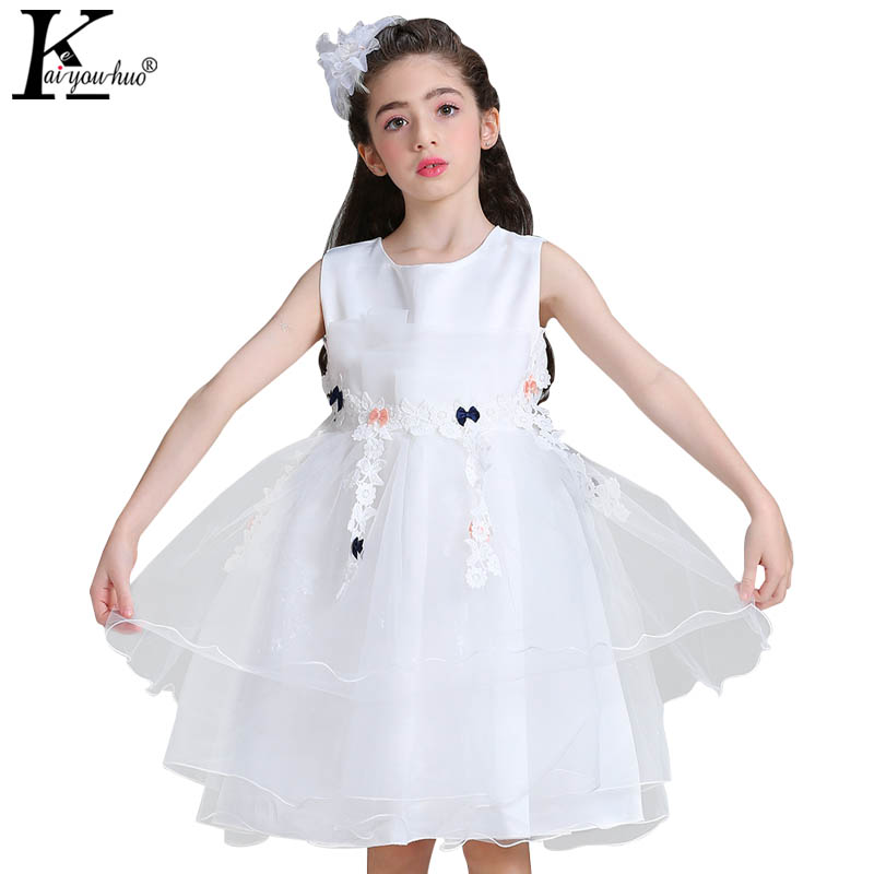 New Girls Dress Solid Toddler Party Wedding Dress Children Princess Dresses For Girls Clothes Halloween Dress Costume For Kids