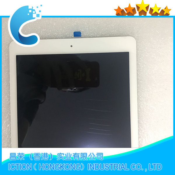 Brand New A1567 A1566 LCD Digitizer Assembly Per iPad Air 2 LCD Assemblea di Schermo Display Touch Screen Colore Bianco