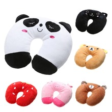 Comfortable Multi-Color Cartoon Pattern U Shaped Travel Pillow PP Cotton Neck Automatic Support Head Rest Cushion