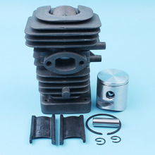 39mm Cylinder Piston Big Bore Kit For Jonsered CS2238 CS2238S Husqvarna 235 240 E Chainsaw Nikasil Plated 545050417,574291001 motorcycle cylinder kit for mbk av10 booster big bore 39mm cylinder kit with piston 13mm pin