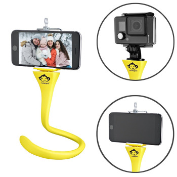 Flexible selfie stick tripod