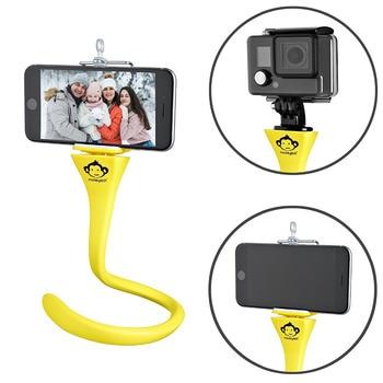 Flexible selfie stick tripod