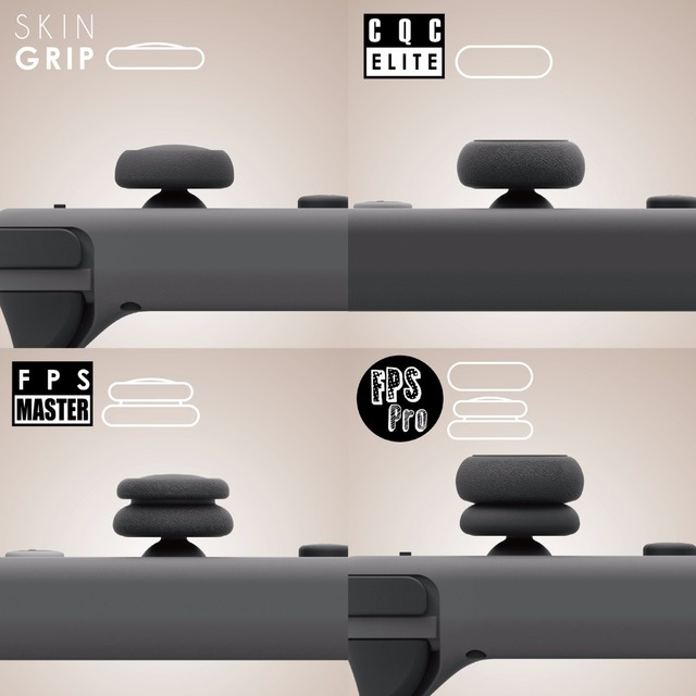 Skull & Co. FPS CQC Thumb Grip Set Joystick Cap Thumbstick Cover for Nintend Nintendo Switch Joy-Con Controller 2