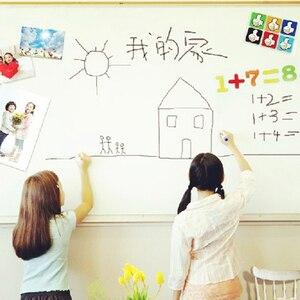 Pvc السبورة ملصقا ملصقات القرطاسية مذكرة الأطفال هدية الإبداعية رسالة مجلس diy الأبيض جدار ملصقا 45*200 سنتيمتر
