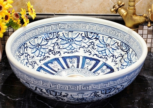 Jingdezhen hand painted blue and white porcelain washbowl ceramic, washing bowl polmedia polish pottery 5 inch stoneware bowl h7021e hand painted from cer maz in boleslawiec poland shape s187c 34 pattern p6200a d58