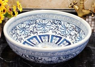 Jingdezhen hand painted blue and white porcelain washbowl ceramic, washing bowl jingdezhen ceramic lamps and lanterns of blue and white enamel thin waist drum desk lamp506