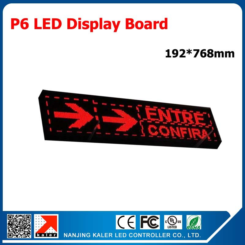 192x768mm Full Color P6 Led Panel Indoor 3in1 Smd 1/8 Scan Led Text Display Panel For Store Advertising Programmable Led Signs