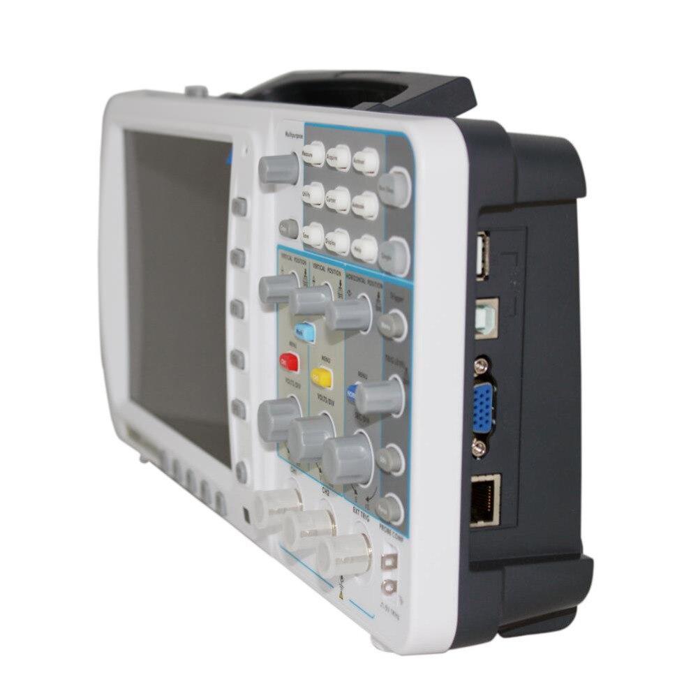 """OWON 100 МГц осциллограф SDS7102 1 г/локон большой """" ЖК 3 года wa LAN FFT бесплатно FW upgr AKL7102V"""