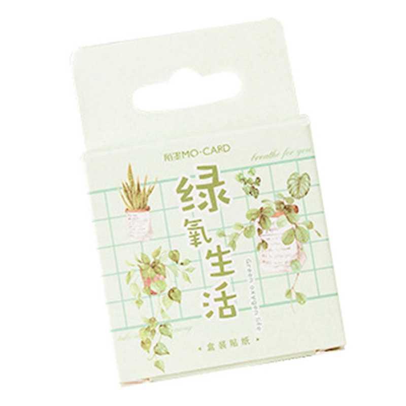 Зеленые растения бумага маленький дневник мини Японская милая коробочка наклейки Набор Скрапбукинг милые хлопья журнал канцелярские принадлежности