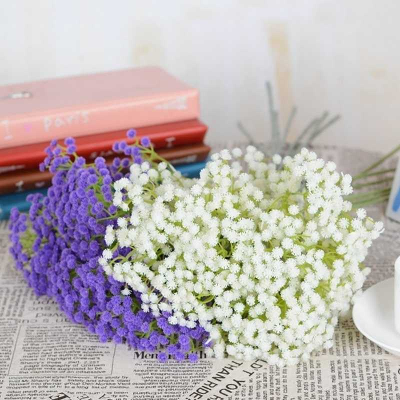 6 ramos Gypsophila Artificial Baby Shower da Festa de Aniversário de Casamento E Noivado Cena DIY Bouquet Home Decor