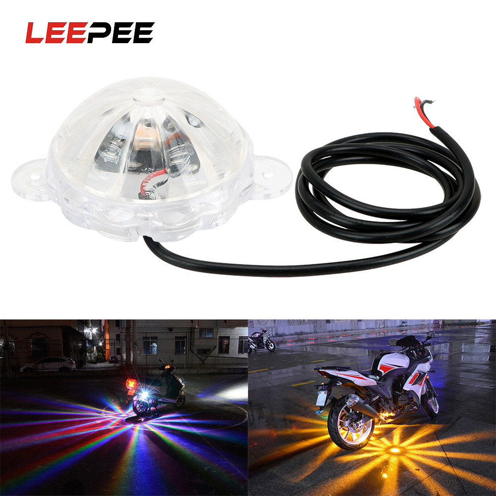 LEEPEE Motorbike Flash Strobe Light Atmosphere Lamp Motorcycle Lighting LED Atmosphere Lamp Moto Chassis Light DC 12V