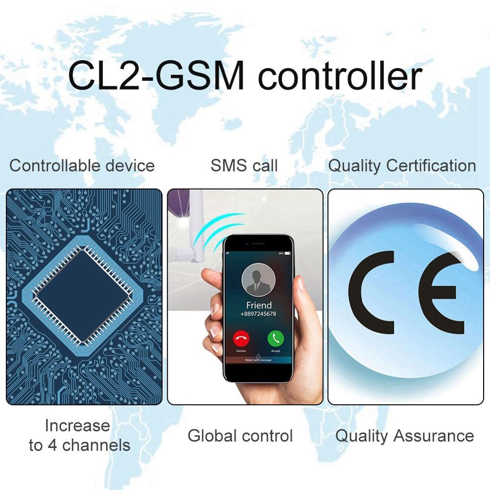 Cl2-gsm Drahtlose Gsm Sms Fernbedienung Für Tor Öffner Barriere Shutter Garage Türöffner Heißer