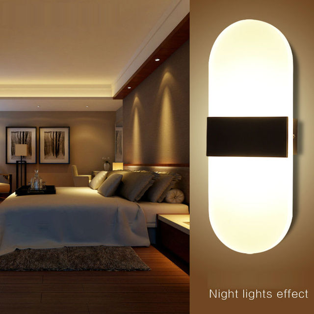 Modern Led Wall Lamps Wall Lights 29X11CM 6W Living Bedroom Indoor ...