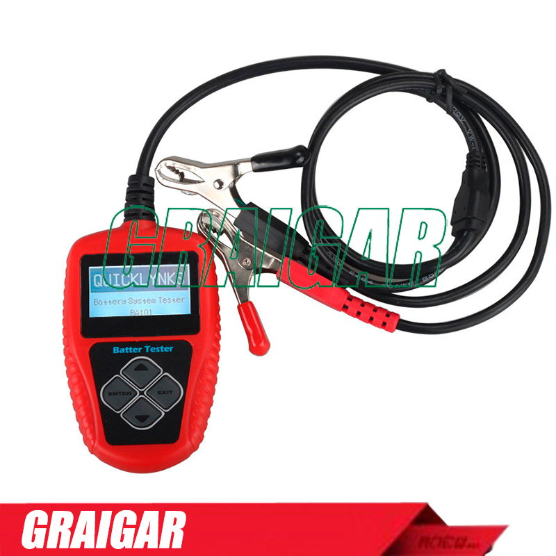 Free shipping 12V Auto Battery Tester Ba101 for all car support print function with Multi-language ancel ba101 car battery tester 12v digital analyzer 2000cca 220ah with japanese korea multi languages bad cell test car tools