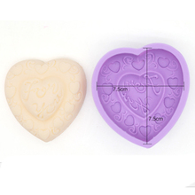 DIY Silicone Handmade Soap Mold Hand Made Heart Crafts Ice