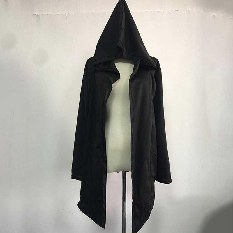 ผู้ชาย Hooded Sweatshirts สีดำชุด Hip Hip Hop Hoodies แฟชั่นแขนยาวเสื้อคลุมชายเสื้อ Outwear
