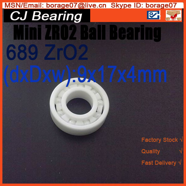 Full zro2  689 Ceramic bearings 9 * 17 * 4 MM zirconia bearing sinix 689