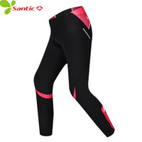 Santic MTB Cycling Pants Roupa Ciclismo Bike Downhill Pants Women Trainers Cycling Tight Pink Bicycle Trousers