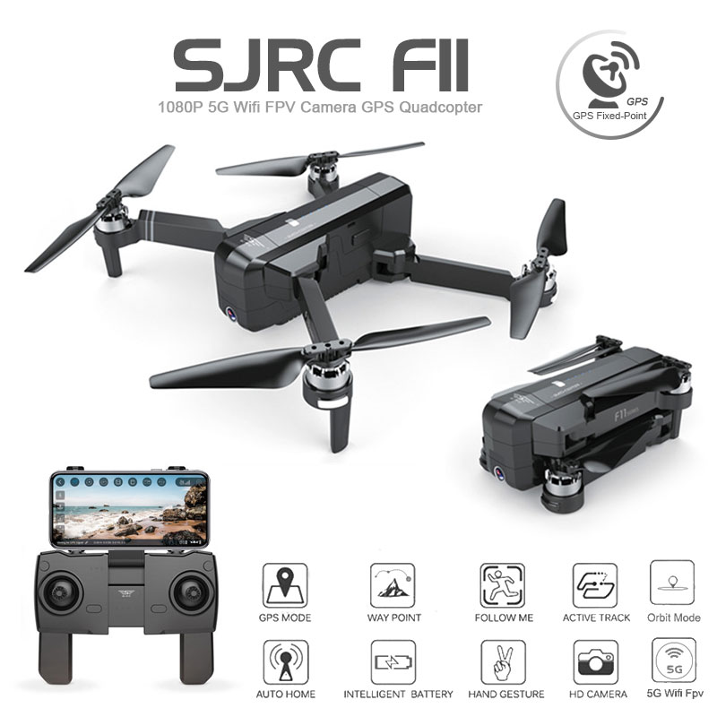 SJRC F11 font b GPS b font Drone With Wifi FPV 1080P Camera Brushless Quadcopter 25mins