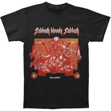 Black Sabbath - Sabbath Bloody Sabbath Cover Distressed T-shirt - BRAND NEW Men'S T Shirts Short Sleeve O-Neck Cotton black sabbath black sabbath sabbath bloody sabbath