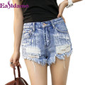2016 Hot Ripped Jeans Shorts Women Fashion Hole Rivet Denim Shorts Female Summer Style Plus Size Short Trousers Women Clothing