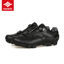 Santic 2018 MTB Cycling Shoes Men Pro Mountain Bike Shoes TPU Comfortable Self-locking Bicycle Shoes Zapatillas Ciclismo 2 Colo