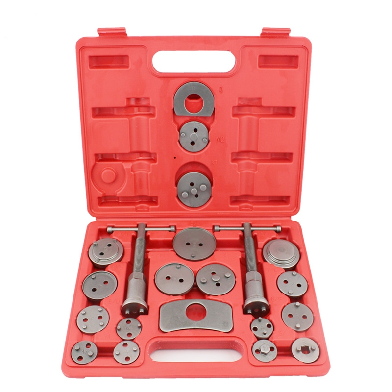 21pcs Set Universal Car Disc Brake Caliper Rewind Back Brake Piston Compressor Tool Kit Set For