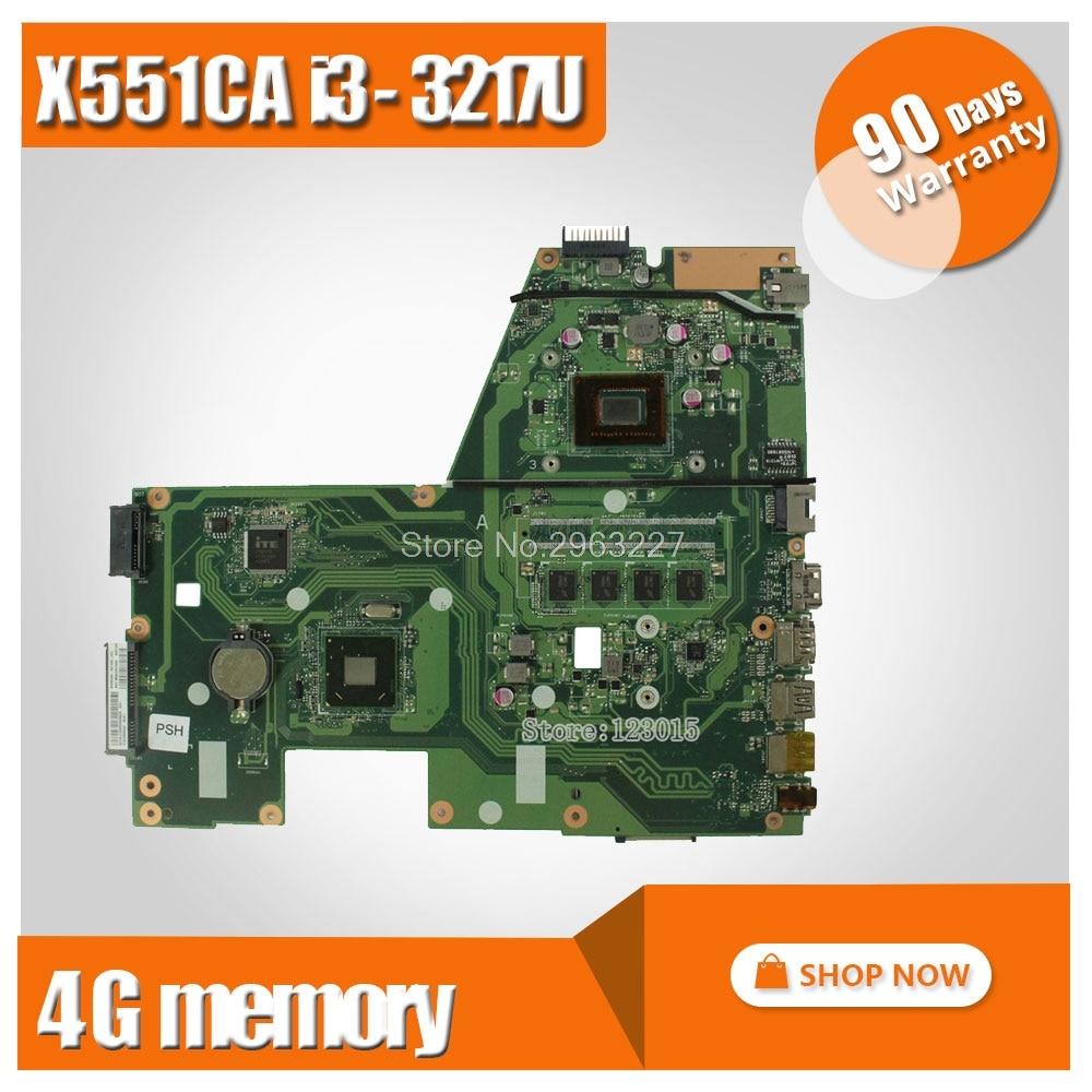 Original For ASUS X551CA F551C Laptop motherboard X551CA mainboard REV2.2 cpu I3-3217u 4GB onboard 60NB0340-MB6030 100% test kefu x551ca motherboard for asus x551ca laptop motherboard x551ca mainboard rev2 2 1007u 100% tested freeshipping