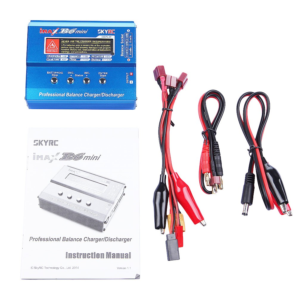 SKYRC Imax B6 Mini Professional Battery Balance Charger Lipo Life 60W For RC Helicopter Drone Charging original skyrc imax b6 60w mini professional balance charger discharger for rc helicopter toy quadcopter battery charging f00032