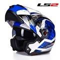Auténtico lente doble cara jie cascos casco de la motocicleta locomotora de auto deportivo de hombre y womenLS2 ff370