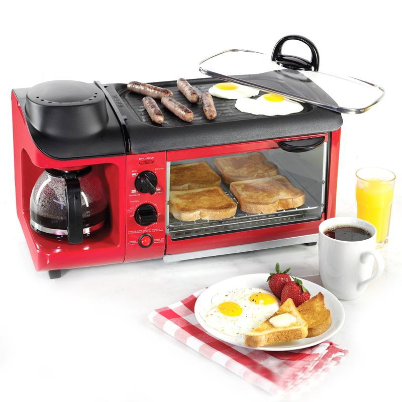 Retro Series 3-in-1 Family Size Breakfast Station breakfast maker 220V supertramp supertramp breakfast in america lp