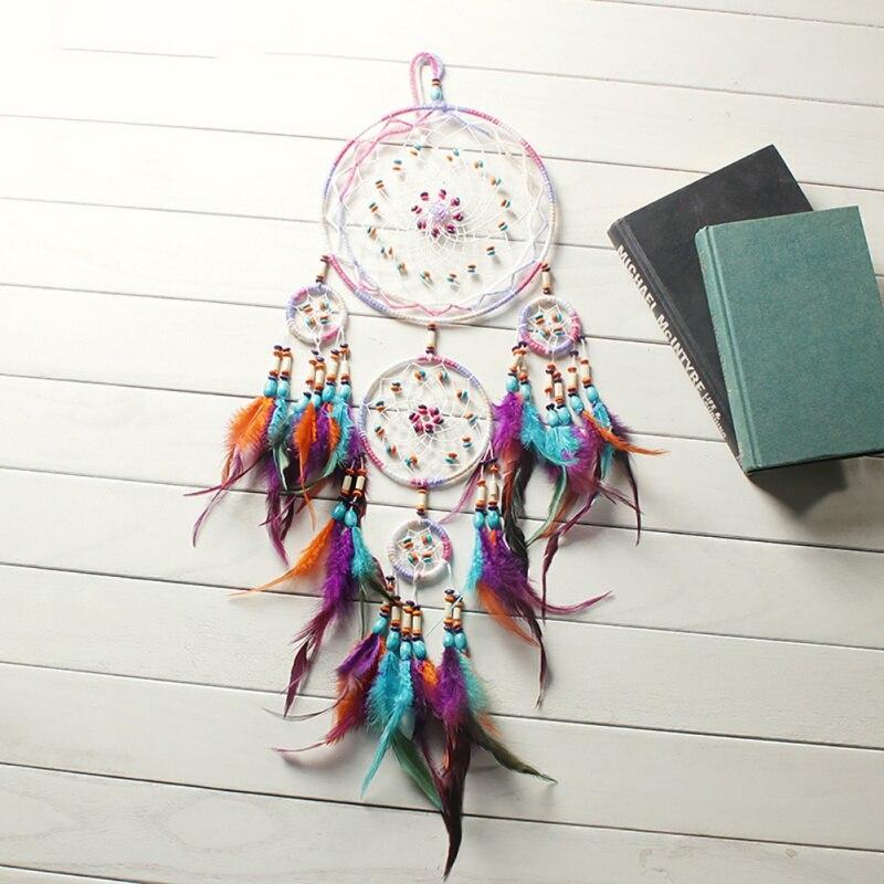 Mode-Design Handmade Dream Catcher Mit Feder Wand Hängen Dekor Zimmer Handwerk Dreamcatcher Ornament