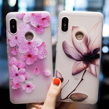 Fashion 3D Relief TPU Case For Xiaomi Redmi Note 5 Pro Case Flowers Matte Silicone Soft Cover For Redmi 6 Pro 5A 4X 4A 5 Plus все цены