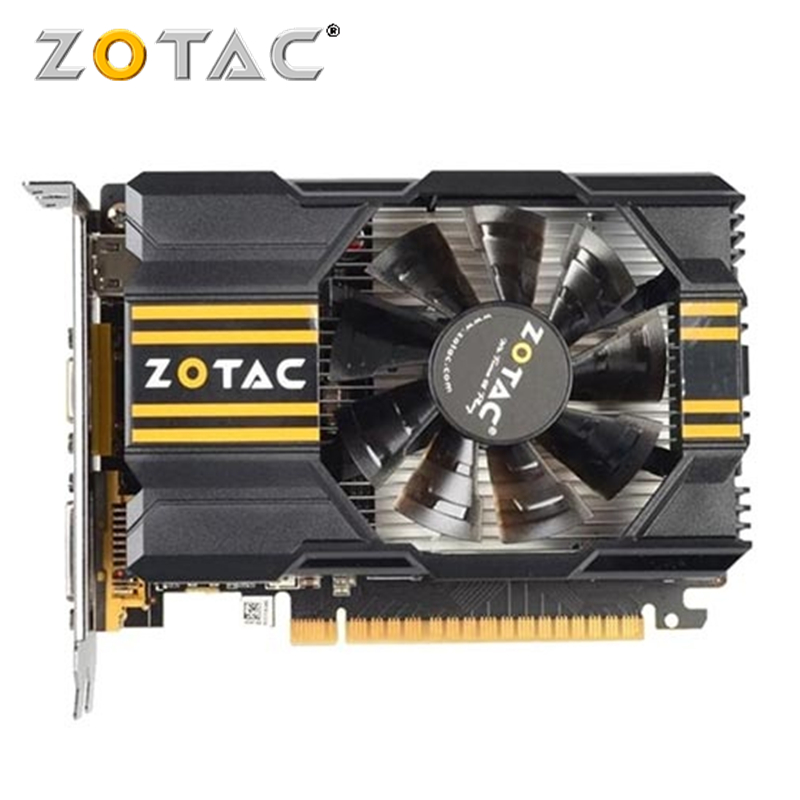 Видеокарта ZOTAC GeForce GT 630, 1 ГБ, бит, GDDR5, GDDR3, графические карты, графическая карта для NVIDIA Original GT630 1GD5 Hdmi Dvi VGA