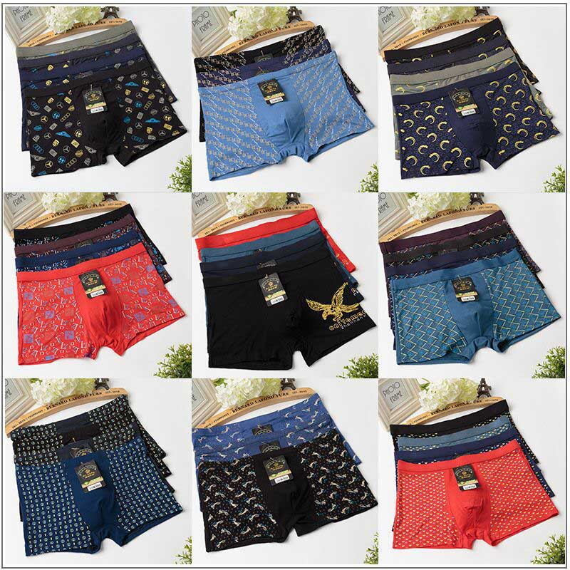 5PCS Mens Boxer Shorts Lot New Underwear Pairs Pack Plus Medium Large XXL-5XL 6XL 7XL Boxers Underpants Free Shipping Cost