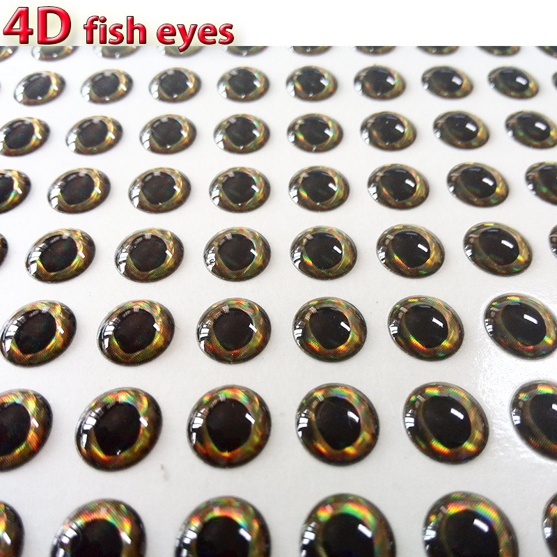 2017 hot fishing lure eyes tear drop pupil with 4d fishing lure eyes bass flying jigs eyes size 3mm-12mm quantity:300pcs/lot