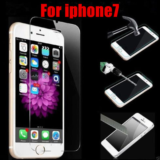 HOT! NEW design 0.26mm 9h 2.5D Tempered Glass Film For iphone 4 4s 5 5s 5c se 6 6s 7 plus Explosion-proof Screen Protector