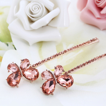 Hot Sale Rhinestone Crystal Floral Butterfly Headwear Hair clip Barrette Wedding Hair Accessories for Woman Girls