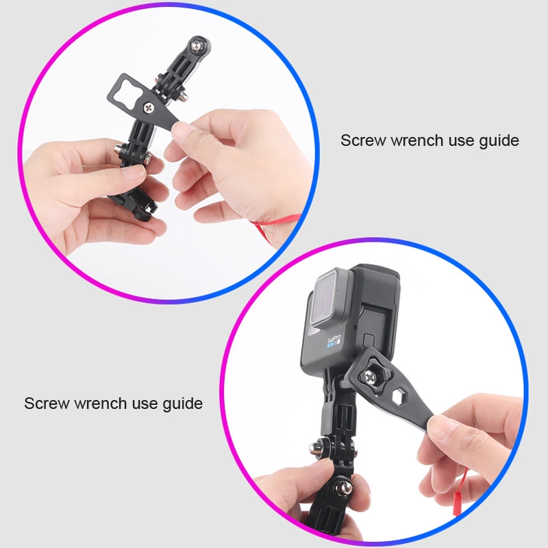 Cycling Helmet Adhesive Multi-Joint Arm Fixed Mount Set with J-Hook Buckle Mount /& Screw for DJI New Action Xiaoyi and Other Action Cameras Rel GoPro HERO7 //6 //5 //5 Session//4 Session //4 //3 //3 //2 //1